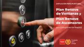 La Comunidad de Madrid destina 450.000 euros a ampliar la dotación presupuestaria del Plan Renove de Ascensores y el Plan Renove de Ventanas